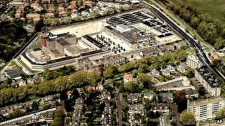 An aerial view of Scheveningen prison (file image)