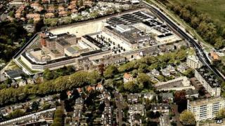 An aerial view of Scheveningen prison (file image)