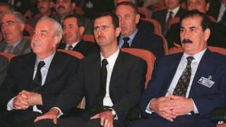 Syrian President Bashar al Assad is seated in the front row at a Baath Party conference in Damascus on June 20 2000, the day he took office.