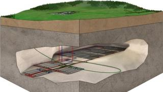 3D cutaway of proposed Romney Marsh Nuclear Research and Disposal Facility