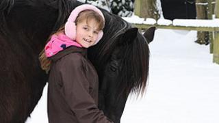 Rachel with her horse