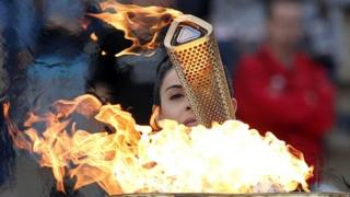 Olympic torch is ready for its journey around the UK