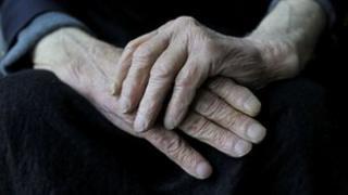 Elderly man with dementia