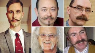 Five moustaches