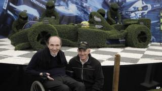 Sir Frank Williams with Paul King at the Chelsea Flower Show