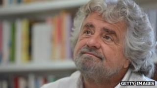 Italian comedian Beppe Grillo (10 May 2012)