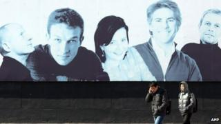 File photo: Billboard of foreigners in Beijing