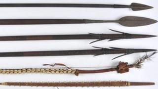 Tribal spears