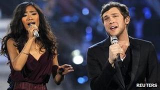 Phillip Phillips and Jessica Sanchez