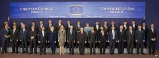 EU heads of state in Brussels (232 May 2012)