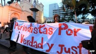 Protest march in Tegucigalpa