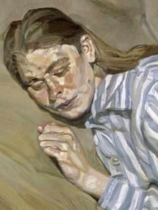 Lucian Freud's Girl in a Striped Nightdress
