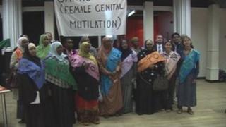 Anti-FGM campaigners in Bristol