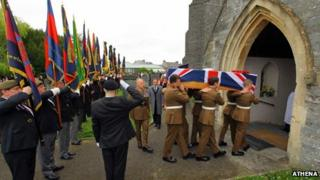 The funeral was held in Cardigan