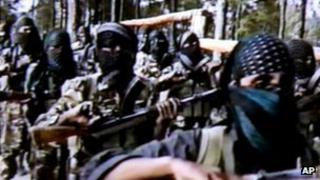 File photo (2001) of militants training in Pakistan