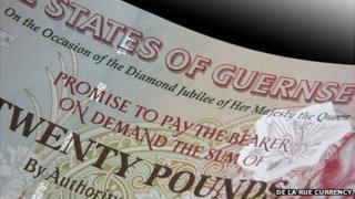 Guernsey Diamond Jubilee £20 notes