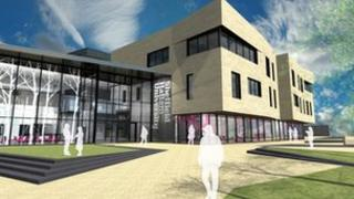Illustration of proposed Sheffield Hallam University building