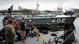 Historic military boats arrive