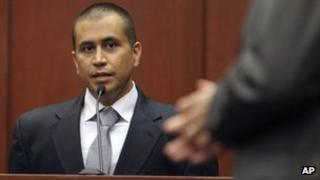 George Zimmerman in a court appearance 20 April 2012