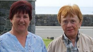 Nikki Kerr, from the Wigwam Support Group, and Maura Stacey, from the Guernsey Bereavement Service