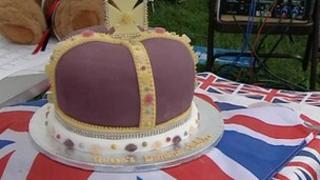 Jubilee cake for Devon celebrations