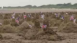 Sandcastles in Burnham-on-Sea