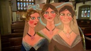 Painting of Bronte Sisters by Stella Vine