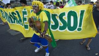Brazilian football supporter