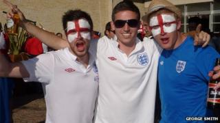 Owen Geach, George Smith and Rob Fiford in South Africa for the 2010 World Cup