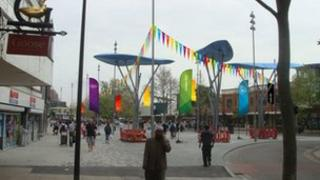 Example of the London Olympic bunting