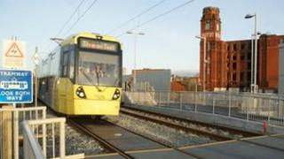 Tram on test in Oldham