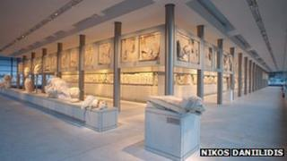 Parthenon Gallery at Athens' new Acropolis museum