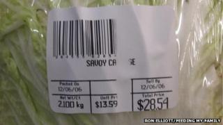 A cabbage costing $28.54