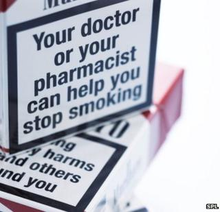 Warnings on cigarette packets