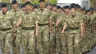 Soldiers in Oakham, Rutland