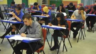 A-level exams