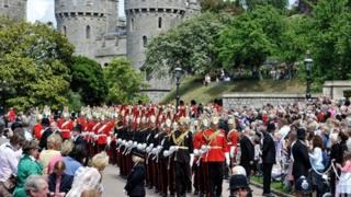 Garter Service at Windsor Castle on 18 June, 2012