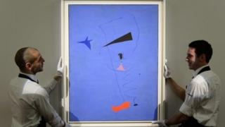 Spanish artist Joan Miro's Peinture (Etoile Bleue)