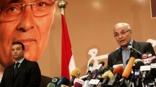 Presidential candidate Ahmed Shafiq (21 June 2012)