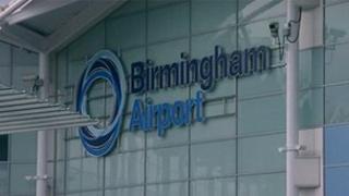 Birmingham Airport sign