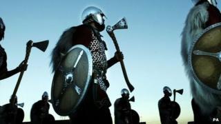 Viking re-enactment on Shetland