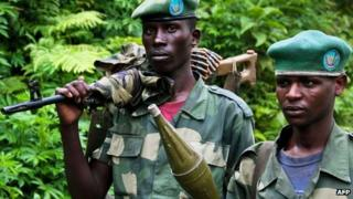 M23 fighters - army defectors in DR Congo, June 2012