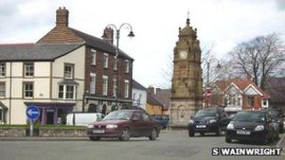 St Peter's Square, Ruthin, is closed for the event
