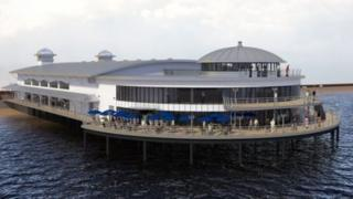 Artist's impression of the new Felixstowe Pier