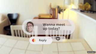 Project Glass demo video screenshot