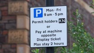 Permit holder sign