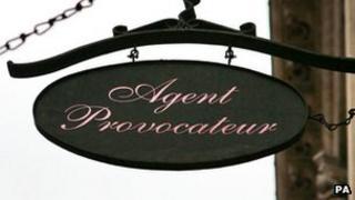 Agent Provocateur shop sign