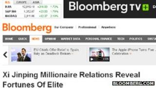 Screengrab of Bloomberg.com
