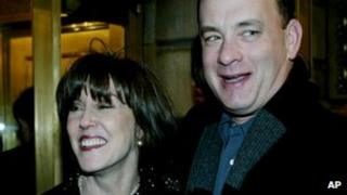 Nora Ephron and Tom Hanks in 2002