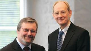 John Deer, left, and Sir David McMurtry